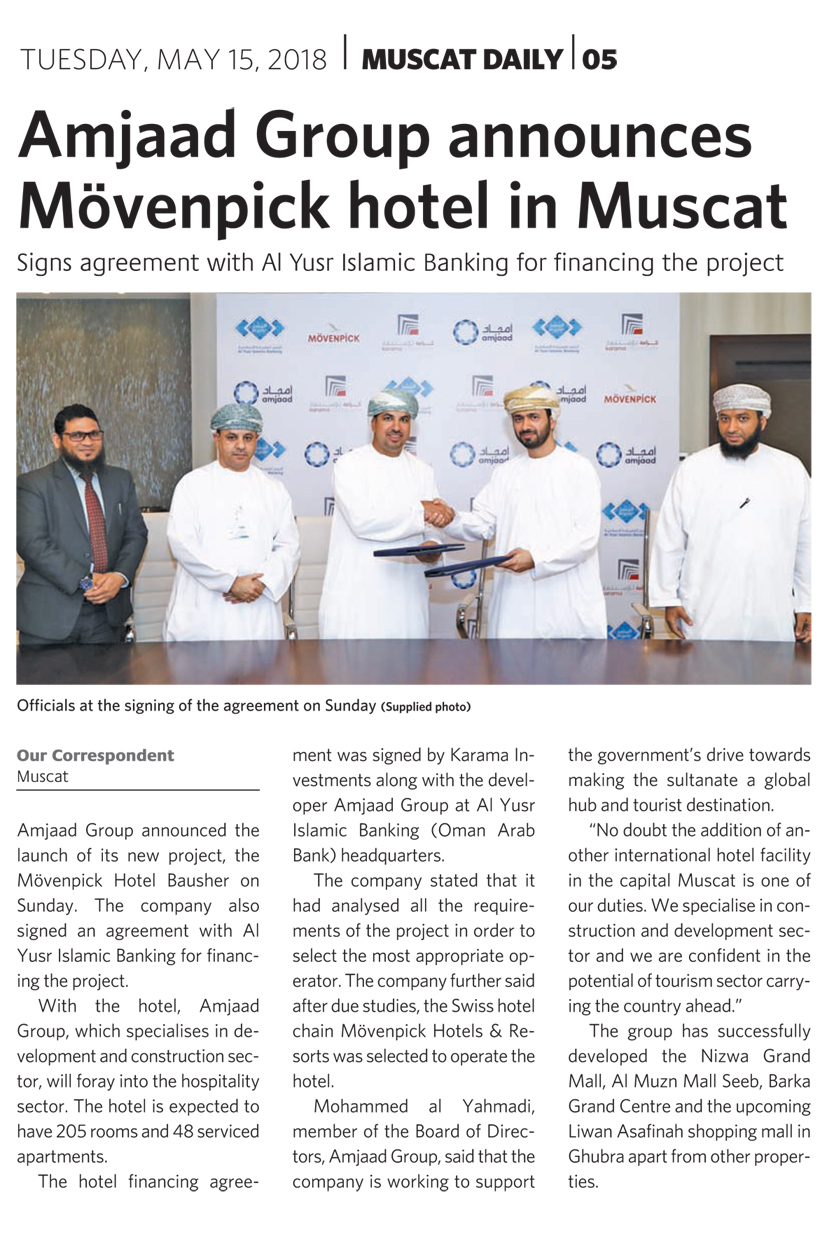 Amjaad Group adds another world class Hotel Property to its